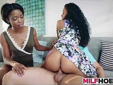 Afterjob Interracial and Ebony Mom Dildo Massage