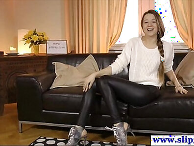 Maci casting young russian girl sucking on studs shaft
