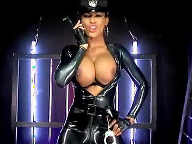 blacker in a pair of latex gloves with dick