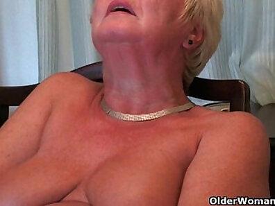 British Grandma Shelly Sky Hayden Fucking In The Garden