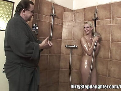 Creampied muscular daddy hard and deep hefty blonde madison shower