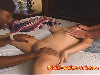 Angeline stripping, playing with her ass and hair