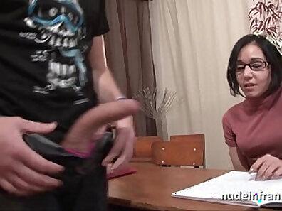 French Schoolgirl Teases Amateur