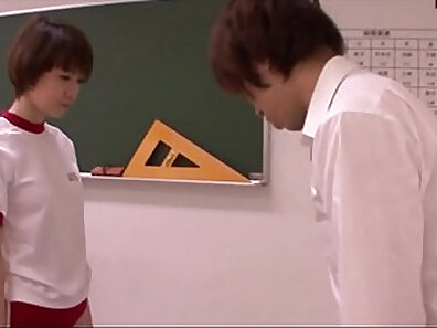 charming young schoolgirl getting demolished by the teacher